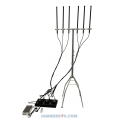 CT-3060N58H-UAV Drone 6 bands RC 433Mhz 900Mhz 2.4Ghz 5.8Ghz 20W GPS L1 L2 High Power 145W Jammer up to 1000m